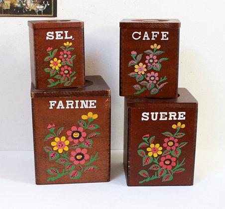 Boîtes à épices rétro 1970