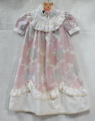 """Robe de cérémonie vintage 80's """"nuages"""""""