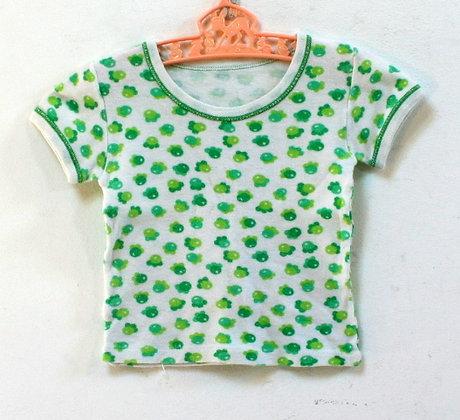 Tee-shirt fleurs vertes