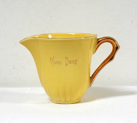"""Pot à lait """"Nous deux"""" jaune"""