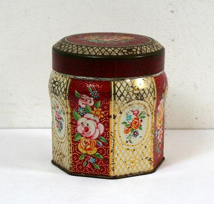 Petite boîte ancienne en métal sérigraphié