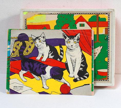 Jeu de cubes vintage les animaux