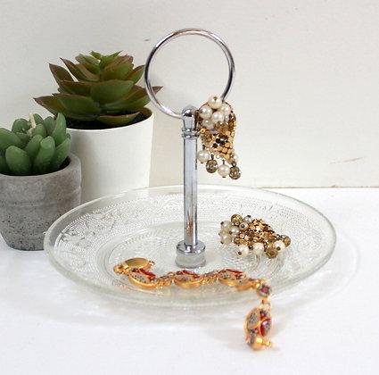 Coupelle à bijoux verre et métal