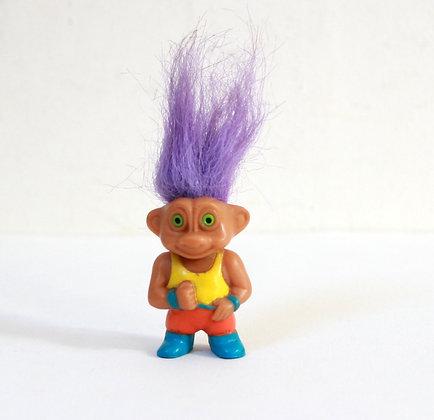 Figurine troll aux cheveux violets