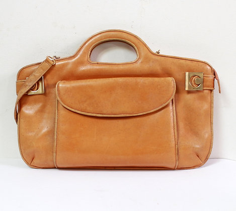 Grand sac vintage en cuir