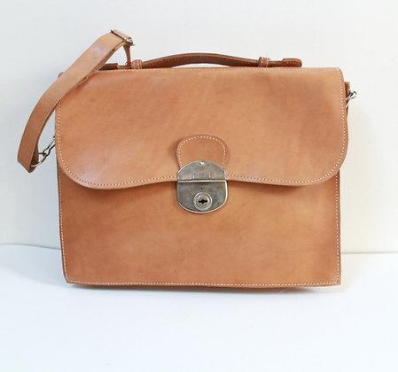 Cartable vintage en cuir
