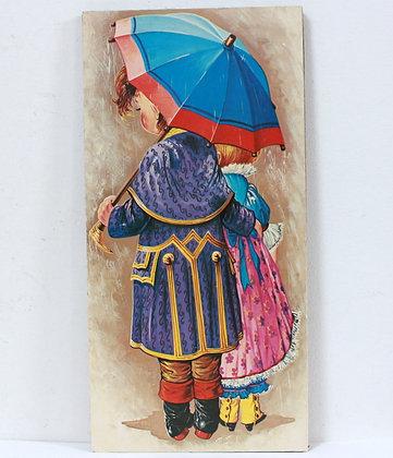 Tableau soeurettes sous la pluie
