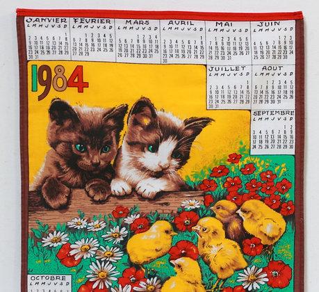 Torchon calendrier 1984