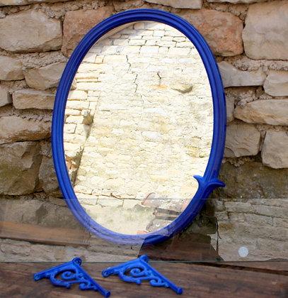 Miroir et tablette en fonte émaillée