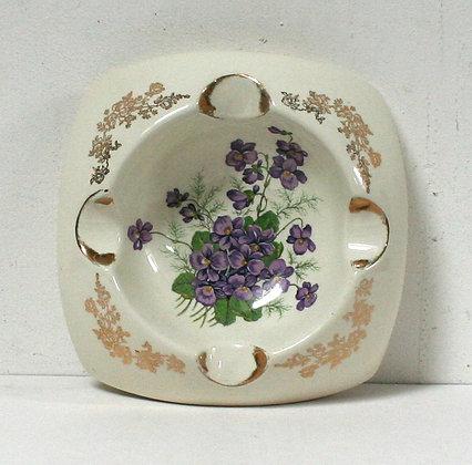 Cendrier vide-poche aux violettes