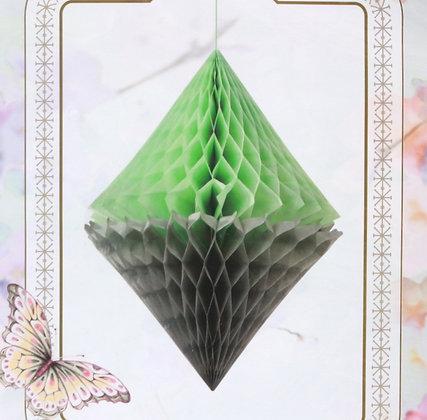Suspension diamant de papier vert