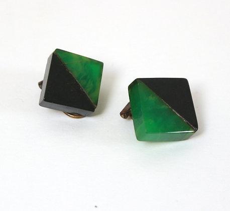 Clips bakélite bicolore