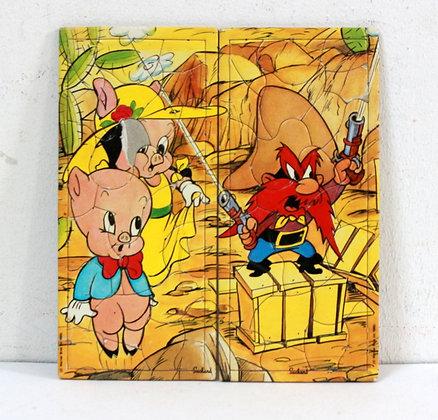 Bugs Bunny mini-puzzles Suchard n°6 et 7
