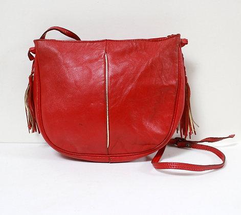 Petit sac cuir rouge