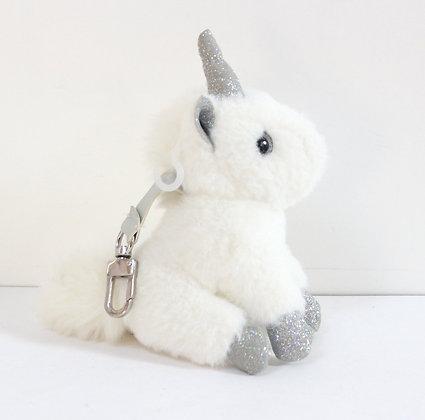Porte-clefs doudou licorne