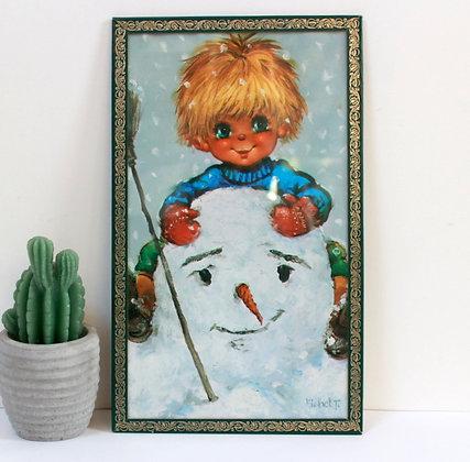 Poulbot au bonhomme de neige