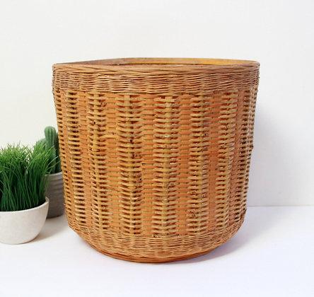 Grand cache-pot en bambou