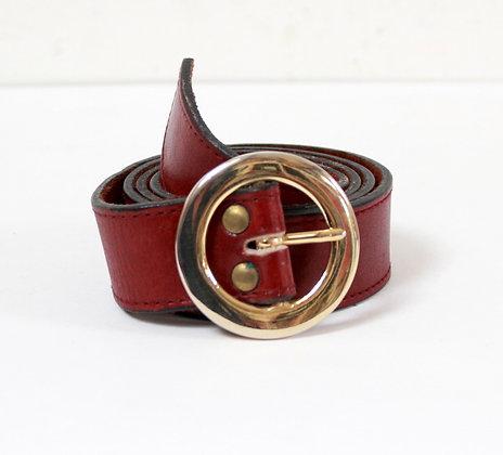 Ceinture vintage rouge bordeaux