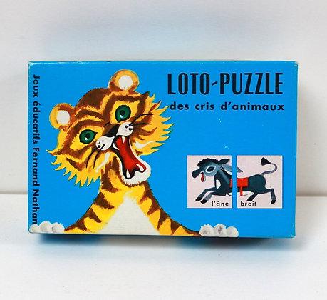 Loto puzzle des cris d'animaux