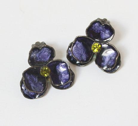 Clips fleurs de violette