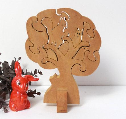 Puzzle 3D Animaux dans l'arbre