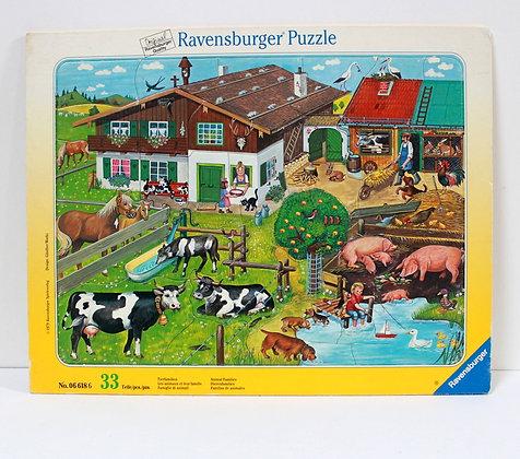 Puzzle Les animaux et leur famille