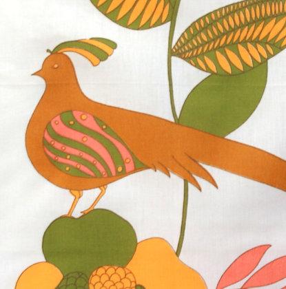 Torchon Fleur et oiseau 1970