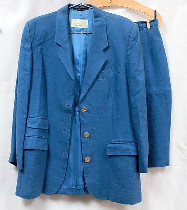 Tailleur lin bleu Cyrillus
