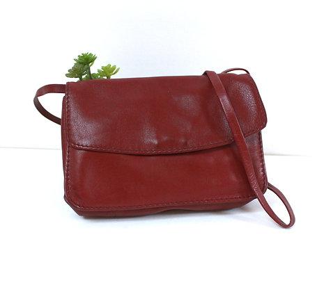 Mini sac cuir bordeaux