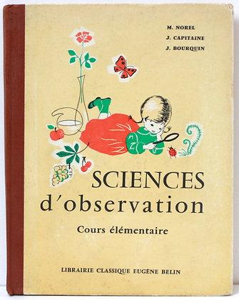 Sciences d'Observation - Cours élémentaire