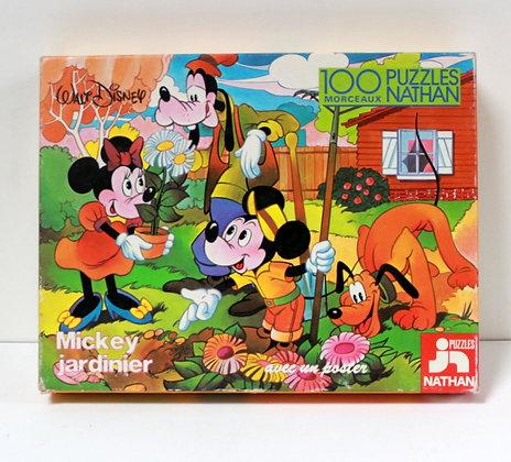 Puzzle Mickey Jardinier
