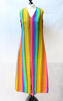 Maxi-robe arc-en-ciel 1970