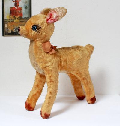 Grande peluche biche Bambi vintage 1950