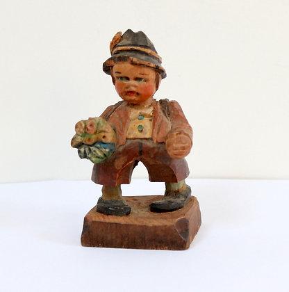 Figurine ancienne en bois taillé