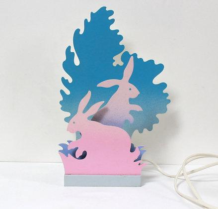 Lampe veilleuse aux lapins