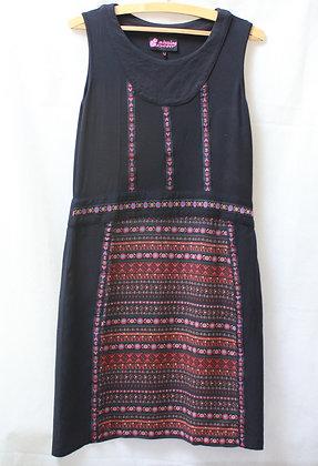 Petite robe noire imprimé bohème