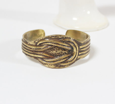 Bracelet manchette laiton doré