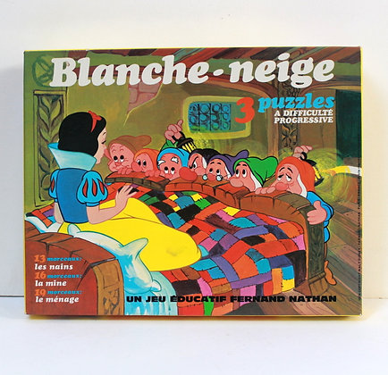 3 puzzles Blanche Neige