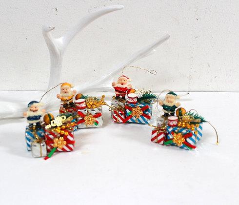 Père Noël rétro kitsch à suspendre