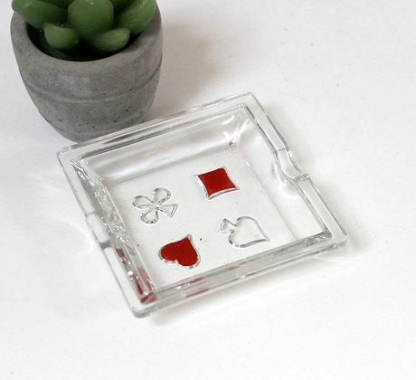 Minuscule cendrier en verre