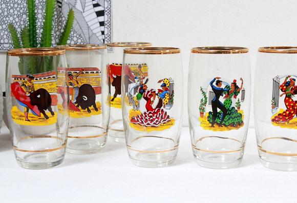6 verres rétro Espagne