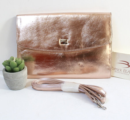 Sac pochette rose gold