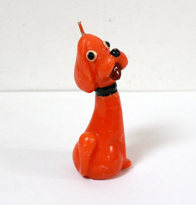 Bougie chien vintage kitsch