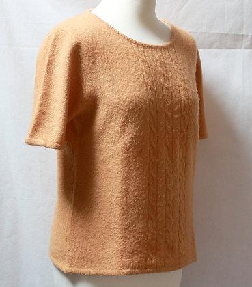 Pull manches courtes laine et cachemire