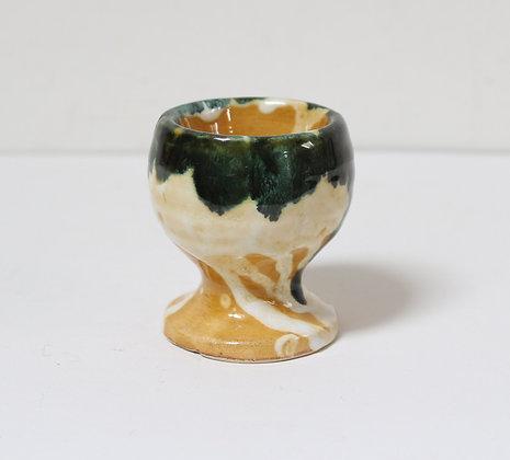 Coquetier en céramique marbrée