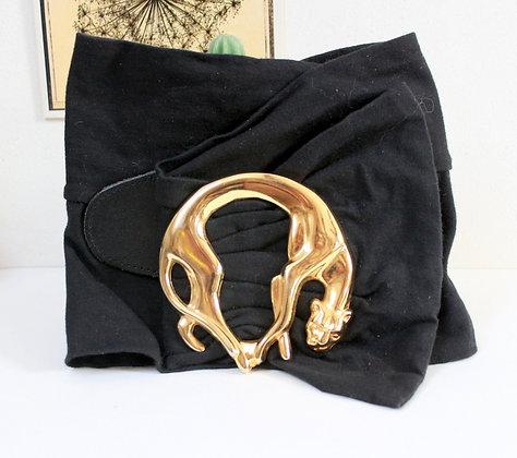 """Très large ceinture """"jaguar"""" 80s"""