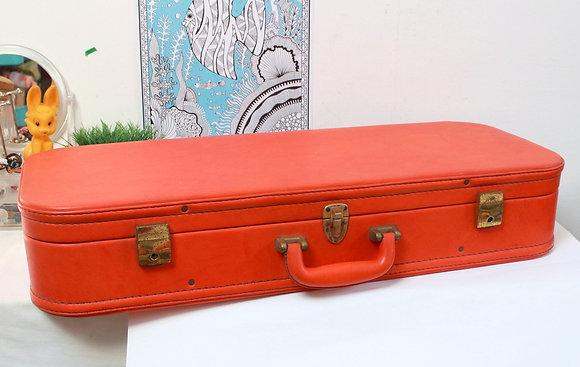 Valise orange vintage 1970