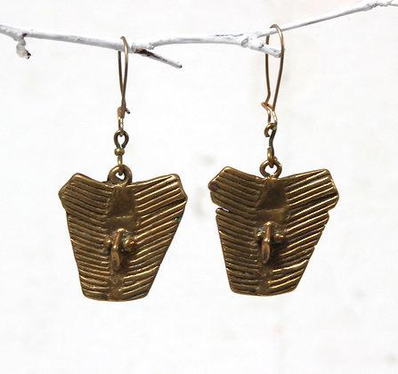 Boucles d'oreilles à pendants en laiton