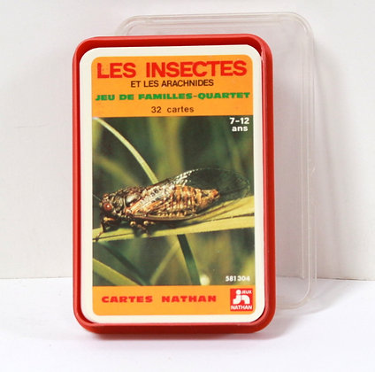 Jeu de familles Les insectes et arachnides