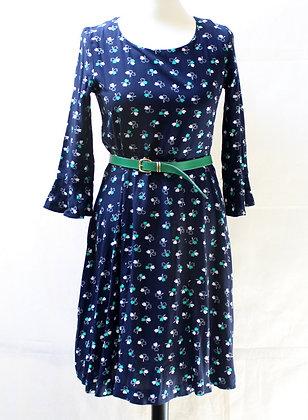 Robe bleu marine esprit rétro